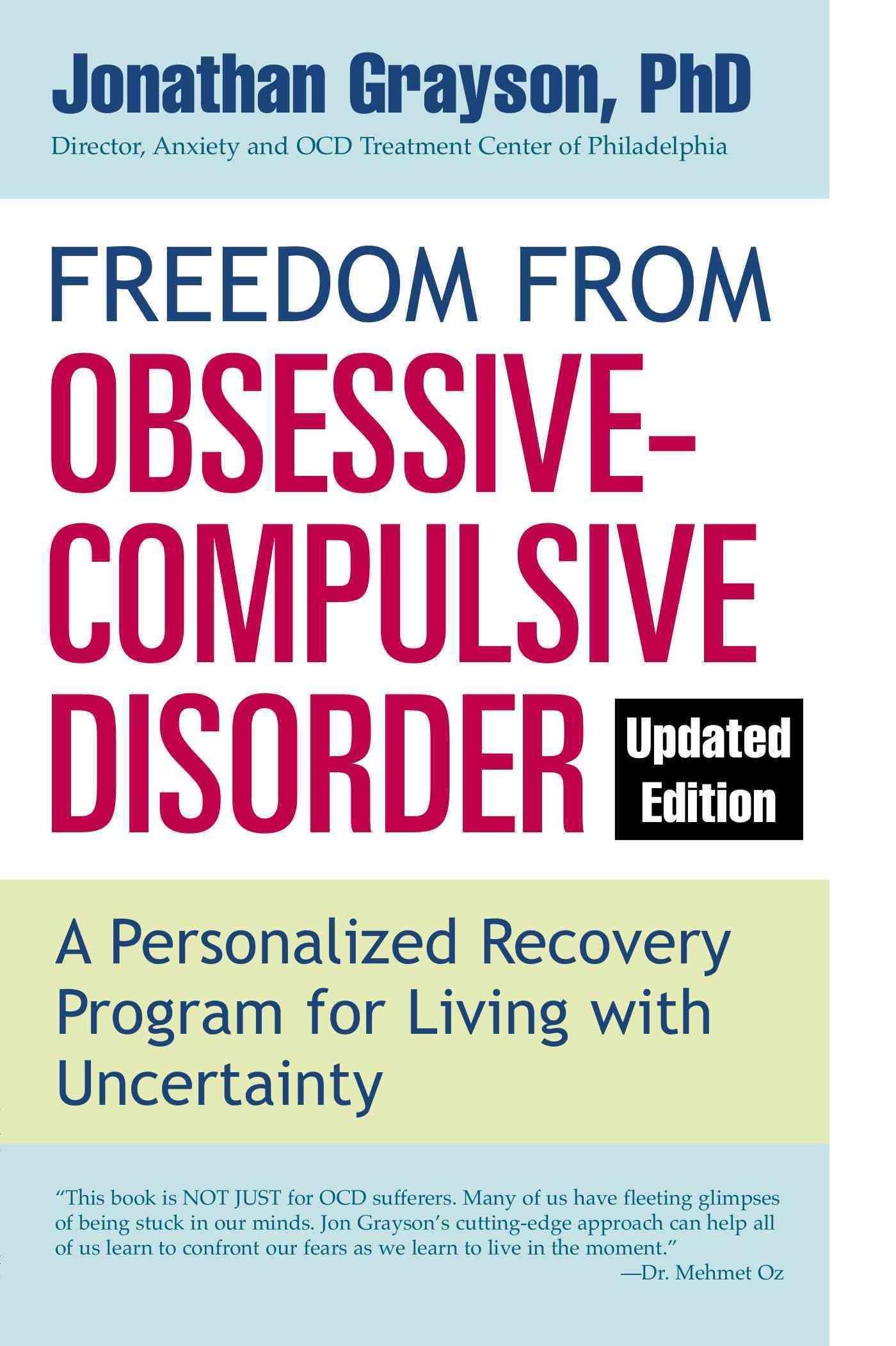 Freedom from Obsessive Compulsive Disorder By Grayson, Jonathan